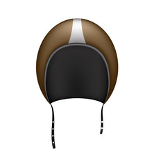 Retro motorcycle helmet in dark brown design