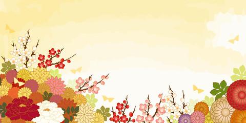 満開の花の背景