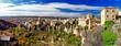 Medeival town on rocks Cuenca, Spain. panorama
