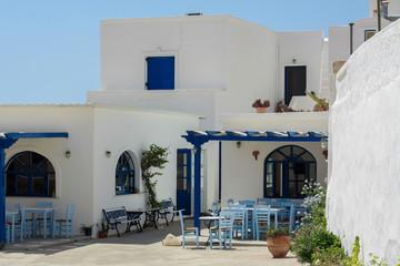 courtyard village houses on Santorini