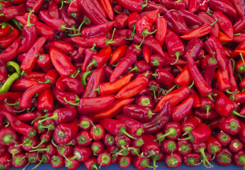 Heap Of Ripe Red Peppers