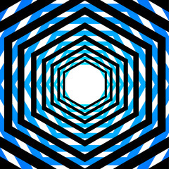 Abstract striped warped optical illusion