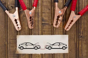 Park car recharge battery