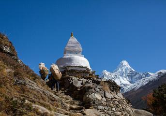 Sherpa work in Nepal