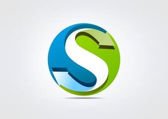 etter S Business icon S Symbol Circle Watercrooop bio