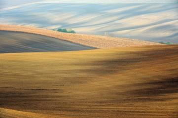 Morawy, krajobraz wiejski, uprawa pól