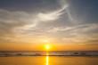Leinwandbild Motiv sunset on the beach