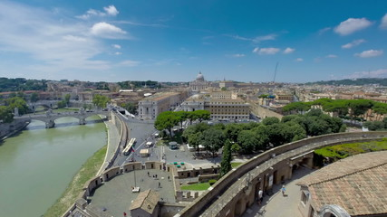 Italy Rome Vatican city time lapse