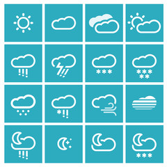 Vector weather icons. Set #2