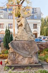 Jesus Christ sculpture in Lodz, Poland