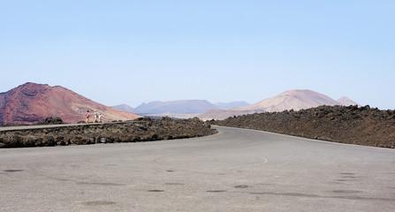 Paraje solitario y volcánico, Lanzarote, Islas Canarias