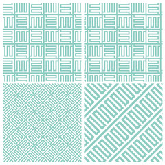 Set of four puzzle block patterns