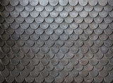 Rusty metal scales armor background