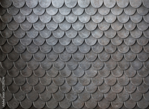 Rusty metal scales armor background - 75293296