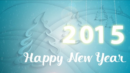 Happy new year 2015 animated card.