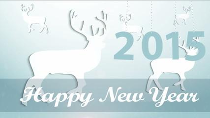 Happy New 2015 year animated.