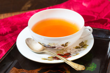 tea setting on table