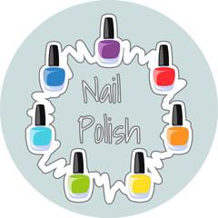 Nail Polish - Vector Illustration