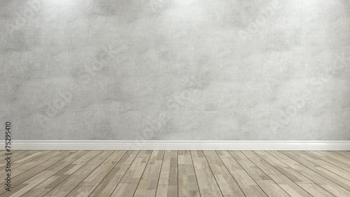 betonowe ściany renderowania 3d