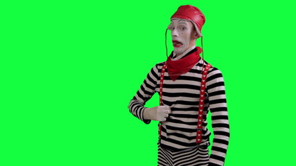 The mime feels stuffy and hot