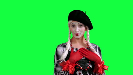 The girl mime flirting funny