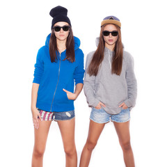 Two young Swag girls standing together
