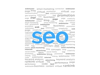 SEO word with keywords background