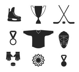 Ice Hockey. Icon set