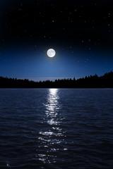 Vollmondnacht am See