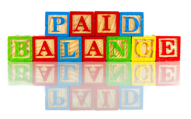Paid Balance words