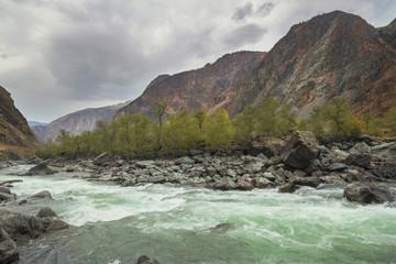 River Valley Chulyshman, Altai