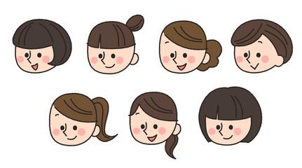 女性 顔 バリエーション