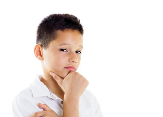 Thoughtful boy portrait