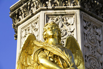 Golden statue of an Angel, Zagreb cathedral