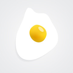 Fried egg icon. Image contains a gradient mesh.