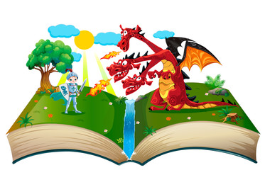 Book about knight and dragon