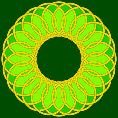 green celtic circle