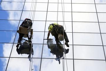 Window Washers on a skyscraper