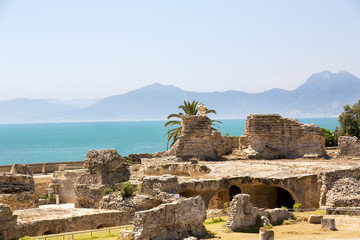historical old ruins of Carthage in Tunisia