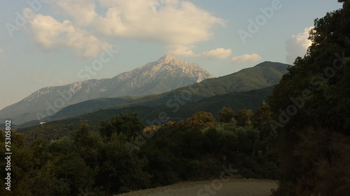 Foto op Canvas Beijing Mountain athos