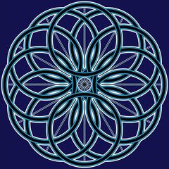 snowflake from circles