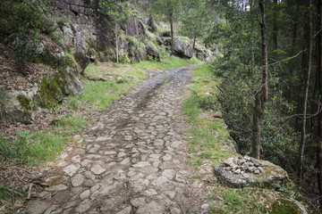 a pedestrian path through the mountain