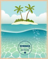 Vector illustration. Summer adventure.