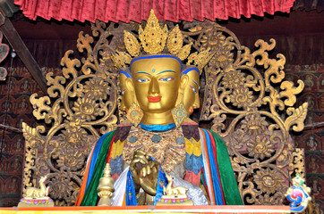 Тибет, Гьяндзе, монастырь Пелкор Чоде, будда