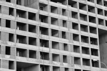 The unfinished building.