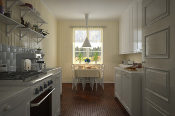 3D - Vintage Kitchen - Shot 1