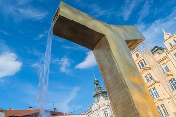 Pilsen; Platz der Republik; Brunnen