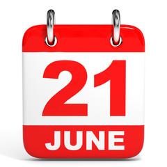 Calendar. 21 June.