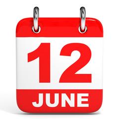 Calendar. 12 June.