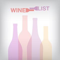 Wine list bottiglie